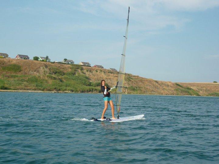 windsurfing girl