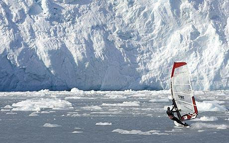 kışın windsurf yapmak